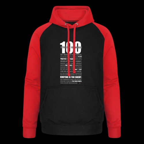 100 Words - Sudadera con capucha de béisbol unisex
