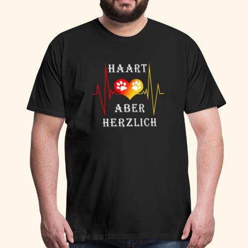 HAART ABER HERZLICH: Klassisch geschnittenes Männer T-Shirt - Männer Premium T-Shirt