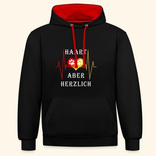 HAART ABER HERZLICH: Unisex Kontrast-Hoodie - Kontrast-Hoodie