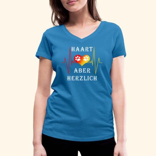 HAART ABER HERZLICH: Frauen BIO-T-Shirt mit V-Ausschnitt - Frauen Bio-T-Shirt mit V-Ausschnitt von Stanley & Stella