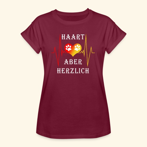HAART ABER HERZLICH: Frauen Oversize T-Shirt - Frauen Oversize T-Shirt