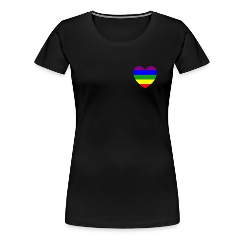 Regenbogen Herz - Frauen Premium T-Shirt
