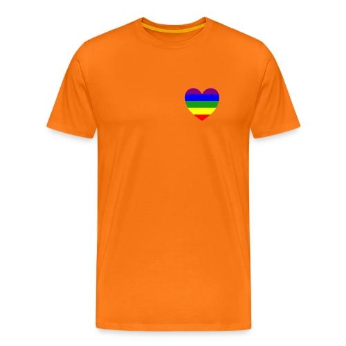 Regenbogen Herz - Männer Premium T-Shirt