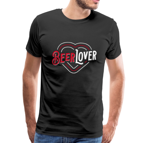 Beerlover Bier Liebe Herz - Männer Premium T-Shirt