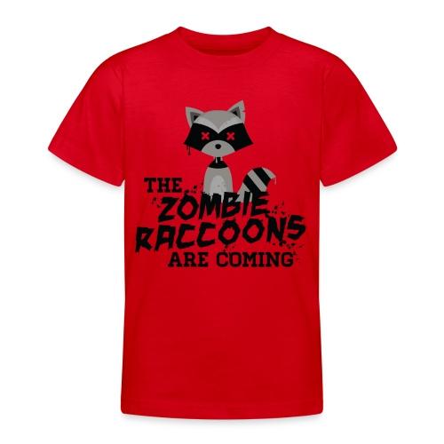 Cute and Funny Zombie Raccoon for halloween Shirts - Teenage T-Shirt