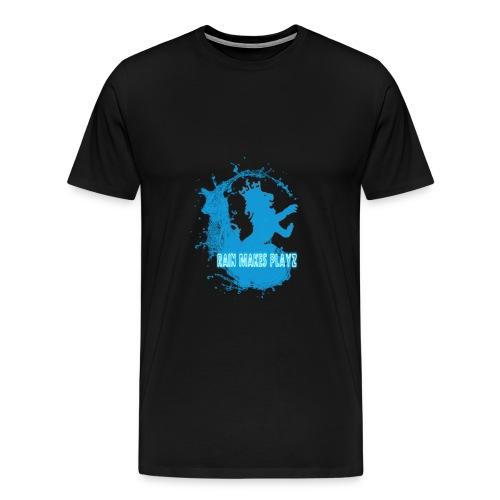 rain makes playz design  - Premium T-skjorte for menn