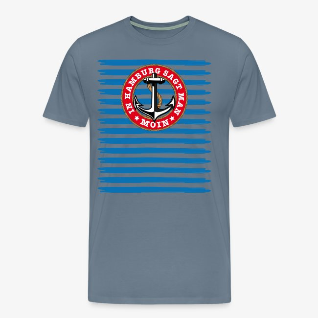 In Hamburg sagt man Moin Anker Seil Shirt 79