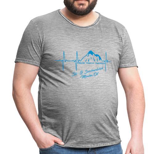 Herzschlag Kontrast Tee m - Männer Vintage T-Shirt