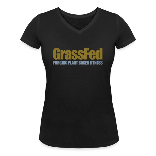 GrassFed two-color simple - Women's Organic V-Neck T-Shirt by Stanley & Stella