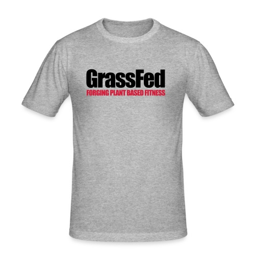 GrassFed two-color simple - Men's Slim Fit T-Shirt