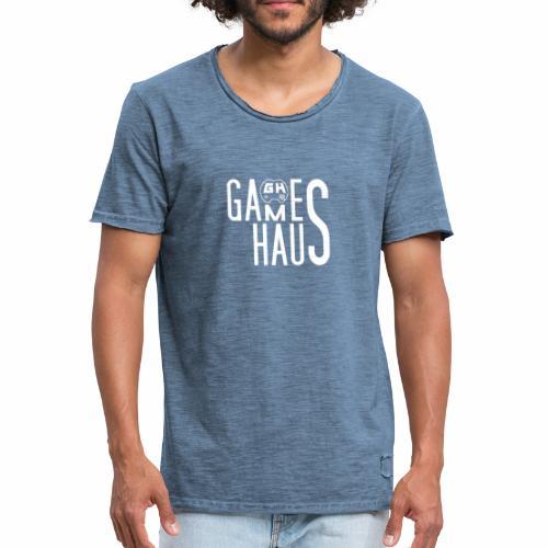 GamesHaus Vintage 2018 - Männer Vintage T-Shirt