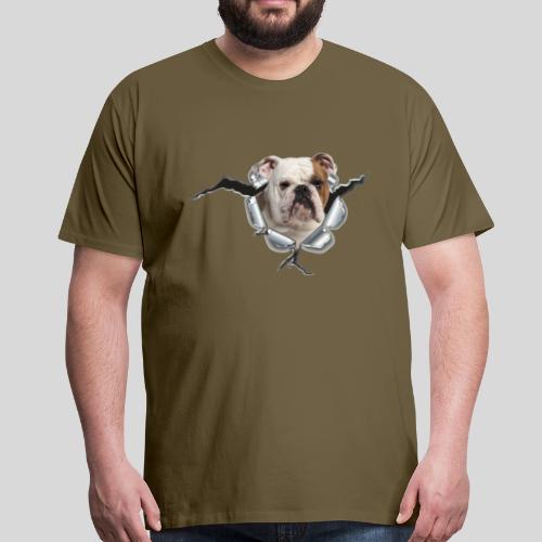 Englische Bulldogge *Metall-Loch* - Männer Premium T-Shirt