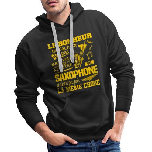 Le bonheur, un saxo - Sweat-shirt à capuche Premium pour hommes
