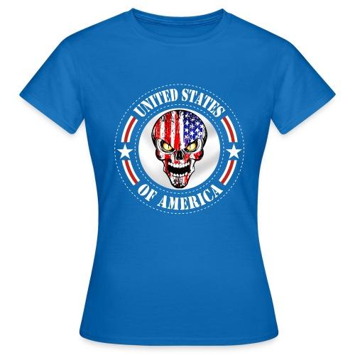 USA skull - T-shirt Femme