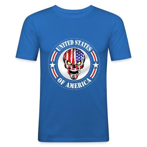 USA skull - T-shirt près du corps Homme