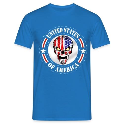 USA skull - T-shirt Homme