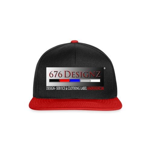 676 CAP 01 [676 Classic] black/ red  - Snapback Cap