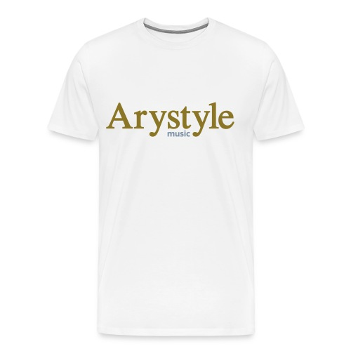 T-shirt Arystyle Or/Argent - T-shirt Premium Homme