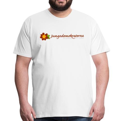 T-shirt Jungodemokraterna. - Premium-T-shirt herr