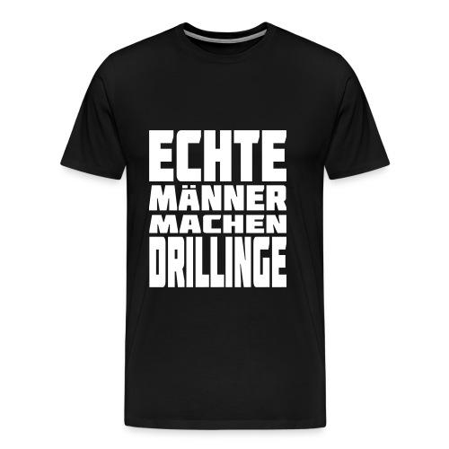 Male T-Shirt Echte Männer machen Drillinge - Männer Premium T-Shirt