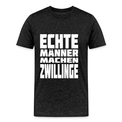 Male T-Shirt Echte Männer machen Zwillinge - Männer Premium T-Shirt