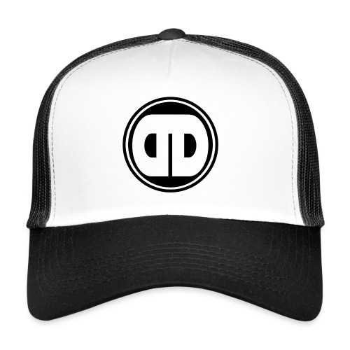 DD Badge Trucker Cap  Black & White - Trucker Cap