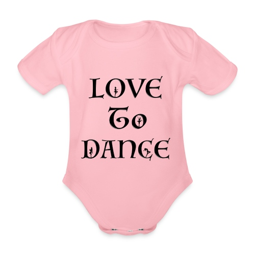 Love To Dance With Female Silhouettes  - Organic Short-sleeved Baby Bodysuit