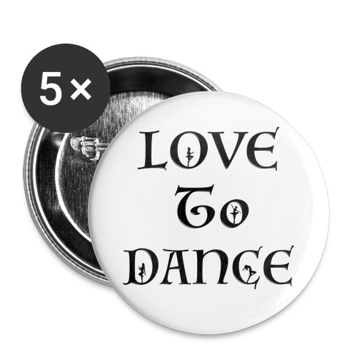 Love To Dance With Female Silhouettes  - Buttons large 56 mm