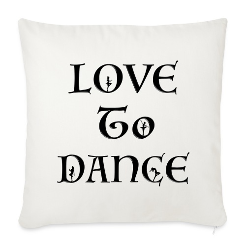 Love To Dance With Female Silhouettes  - Sofa pillow cover 44 x 44 cm