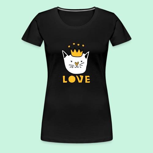 Königliche Katze - Frauen Premium T-Shirt