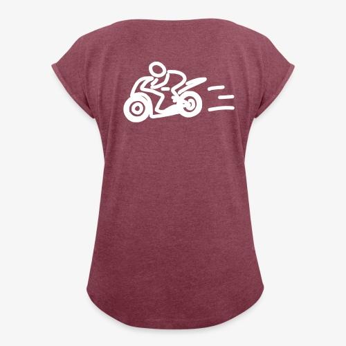 iYpsilon Shirt gerollte Ärmel Bikerin - Frauen T-Shirt mit gerollten Ärmeln