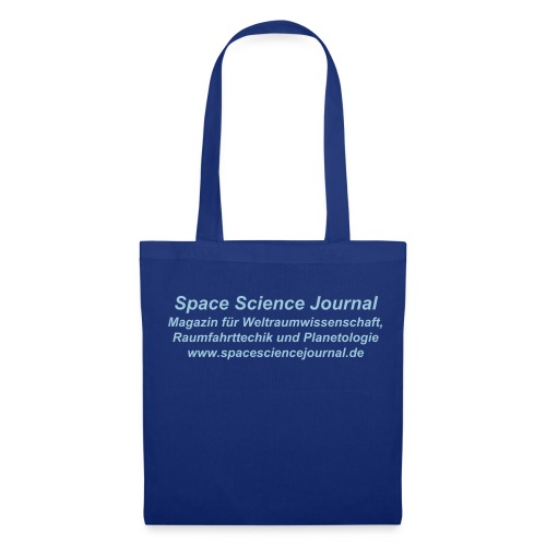 Space Science Journal Tasche, royalblau - Stoffbeutel