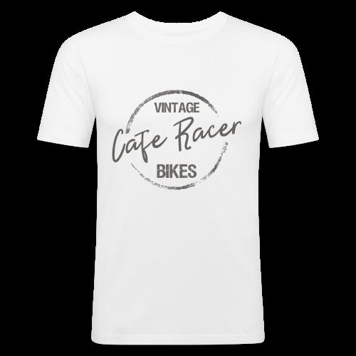 Vintage Cafe Racer Bikes - Männer Slim Fit T-Shirt