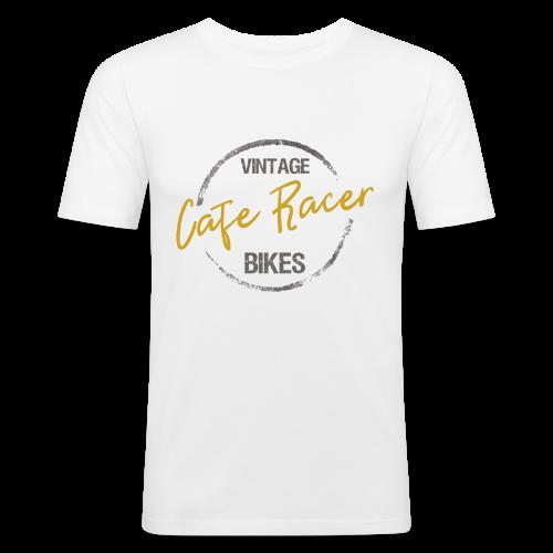 Vintage Cafe Racer Bikes 02 - Männer Slim Fit T-Shirt