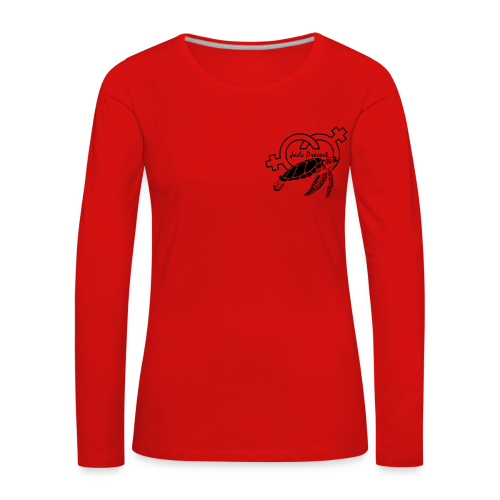 Turtles LB - Maglietta Premium a manica lunga da donna
