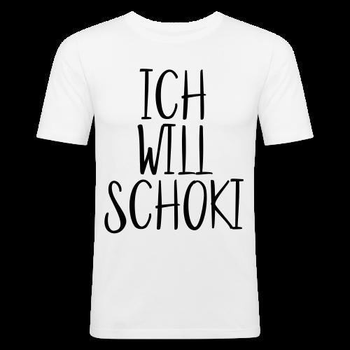 Ich will Schoki  - Männer Slim Fit T-Shirt