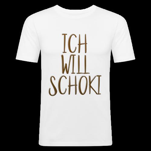 Ich will Schoki 3D - Männer Slim Fit T-Shirt