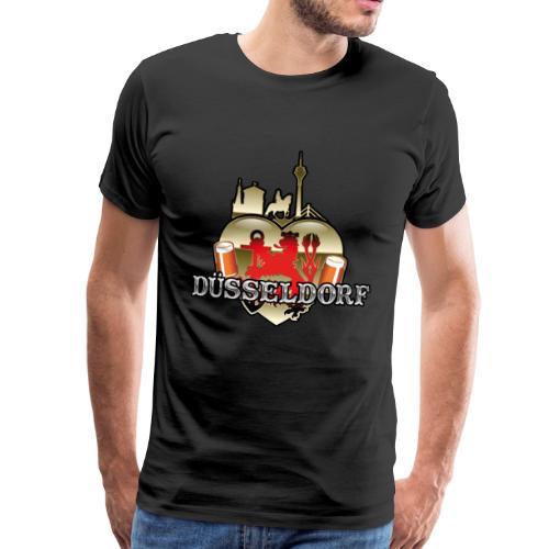 Düsseldorf-T-Shirt Düsselherz - Geschenkidee! - Männer Premium T-Shirt