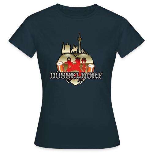 Düsseldorf-T-Shirt Düsselherz - Geschenkidee! - Frauen T-Shirt