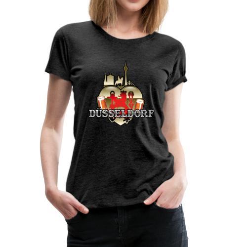 Düsseldorf-T-Shirt Düsselherz - Geschenkidee! - Frauen Premium T-Shirt