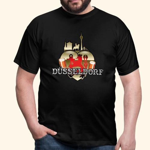 Düsseldorf-T-Shirt Düsselherz - Geschenkidee! - Männer T-Shirt