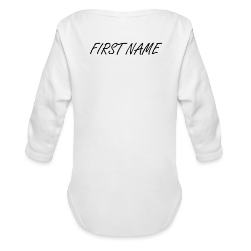 Body with Name - Organic Longsleeve Baby Bodysuit