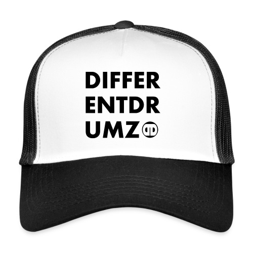 DD Text Trucker Cap  Black & White - Trucker Cap