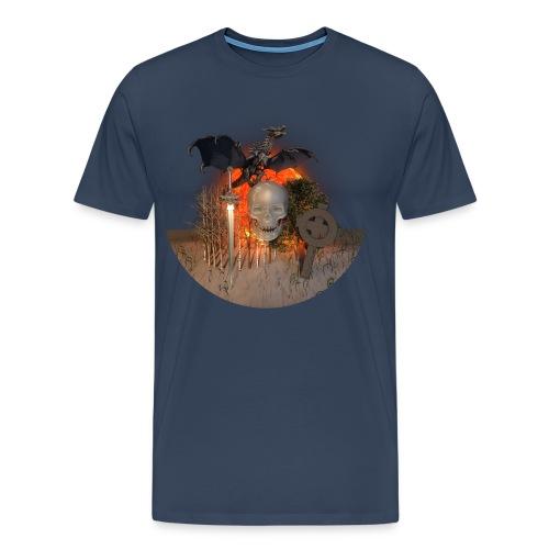 Tête de mort dragon - T-shirt Premium Homme