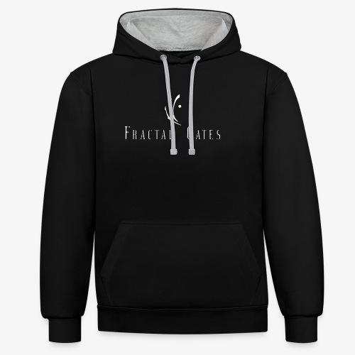 Fractal Gates 2018 hoodie - Sweat-shirt contraste