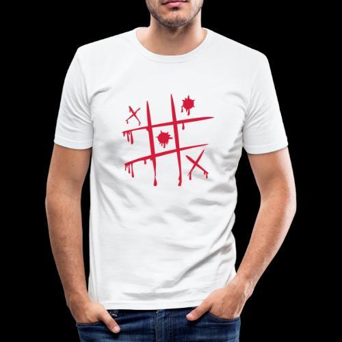 TicTacToe - Camiseta ajustada hombre