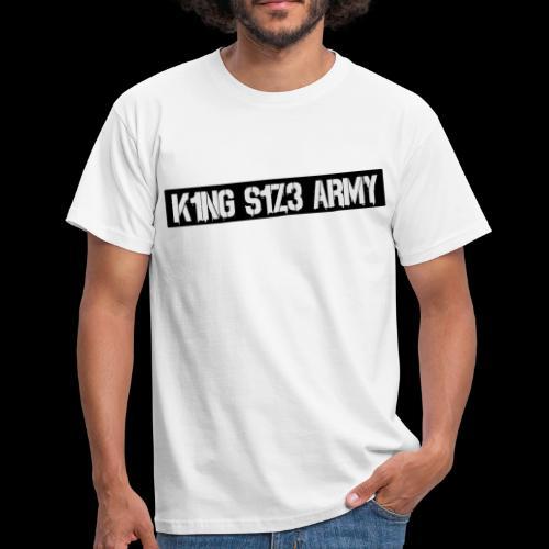K1NG S1Z3 ARMY Shirt Weiß - Männer T-Shirt