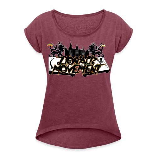 Zionalb Movement Logo 2018 - Frauen T-Shirt mit gerollten Ärmeln