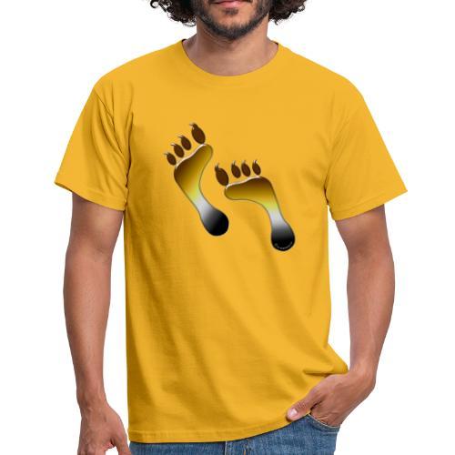 Bärenlust meets bärigen Regenbogen Fuß - Männer T-Shirt
