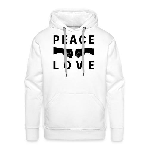 PEACE-LOVE - Felpa Man 1 - Felpa con cappuccio premium da uomo